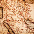 Antique map of the Arabian Peninsula — Stock Photo
