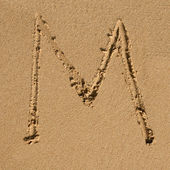 English sandy alphabet — Stock Photo