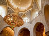 Sheikh Zayed mosque inside — Stock Photo