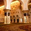 Sheikh Zayed mosque inside - Stock Photo