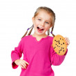 Royalty-Free Stock Photo: Girl with chip cookies