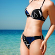 Torso of a girl in a bathing suit — Stock Photo