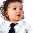 Child dressed in a business — Stock Photo