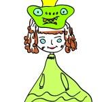 Princess frog vector — Stock Vector