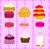 Cupcake design vector — Stock Vector