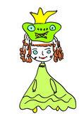 Принцесса лягушка вектор — Cтоковый вектор