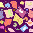 Valentines background, vector — Stock Vector