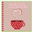 Greeting card with hearts and love vector — Stock Vector