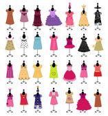 Fashion. Dresses for girls. set — Stock Photo