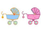 Baby stroller vector — Stock Vector