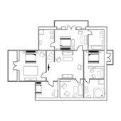 Building plan — Stock Vector