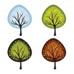 Four season trees — Stock Vector #8981351