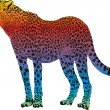 Cheetah - vector abstract rainbow — Stock Vector