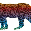 Leopard - vector abstract rainbow - Stock Vector
