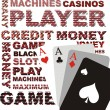 Vector de stock : Poker background, vector graphics