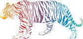 Tigre - arco-íris abstract vector — Vetorial Stock