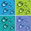 Vector colorful water drops - Stock Vector