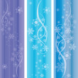 Vector abstract winter ornaments. eps10 - Stock Vector