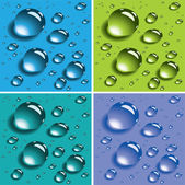 Vector colorful water drops — Stock Vector
