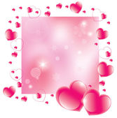 Vector Abstract Valentine's Day Background — Stock Vector