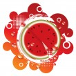 Vector abstract background with fresh watermelon - Stock Vector