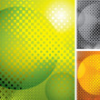 Vector abstract halftone background - Stock Vector
