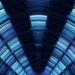 Futuristic hallway corridor — Stock Photo