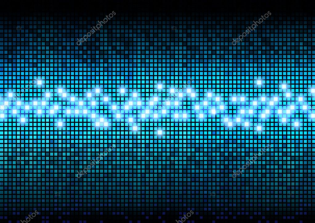 Digital color pixels amplitude level display effect  Stock Photo #9311441