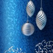 Blue Christmas brocade silver decoration — Stock Photo #9324339