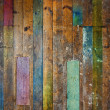Colorful old wooden floor or wall — Stock Photo