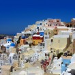 Colorful Greek village — Stock Photo