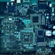 Motherboard components and circuits - Foto de Stock
