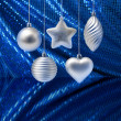 Royalty-Free Stock Photo: Silver blue Christmas decoration