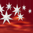 White paper stars on red — Stock Photo