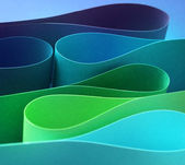 Cool color arc wave form — Stock Photo