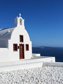 Cycladic church Oia Santorini Greece — Stock Photo