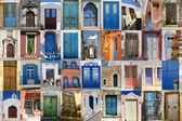 Doors of Greece set — Stock Photo