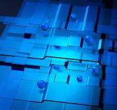 Nanotechnology concept — Stock Photo