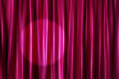 Purple curtains with light spot — Stock Photo