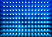 Modrý reflektor zeď — Stock fotografie