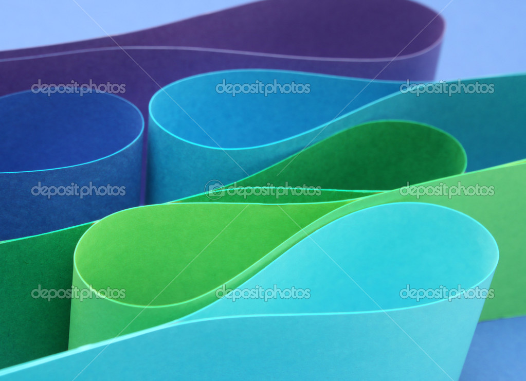 Cool color palette arc wave form papers — Stock Photo #9324499