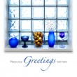 Royalty-Free Stock Photo: Blue Christmas arrangement