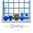 Blue Christmas arrangement — Stock Photo #9337483