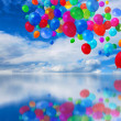 Colorful balloons cloudscape — Stock Photo #9337574