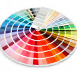 Designer color chart spectrum - Stok fotoraf