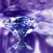 Diamond on purple — Stock Photo