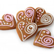 Stock Photo: Heart shape ginger breads