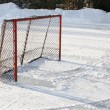 Foto Stock: Ice hockey goal