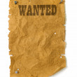 Wild west Wanted poster — Stock Photo #9338039