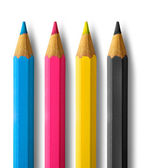 Color pencils cmyk — Stock Photo